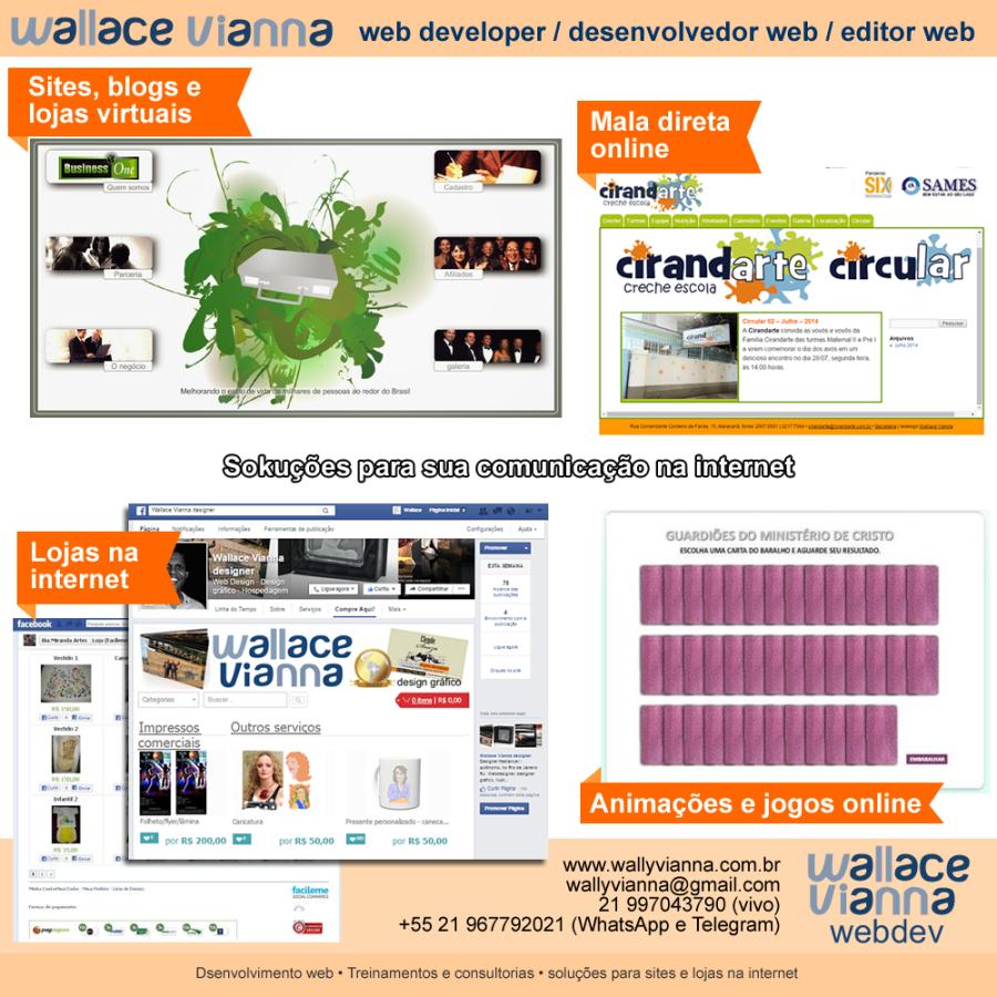 desenvolvedor web developer editor web autonomo freelancer rio janeiro rj
