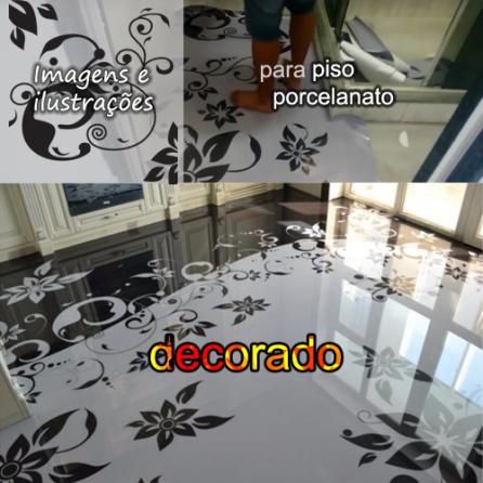 Ilustração piso porcelanato líquido.